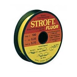 Fil nylon Stroft jaune fluo 100m