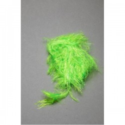 Long Ice Hackle Chenille Fly Scene Fl Green