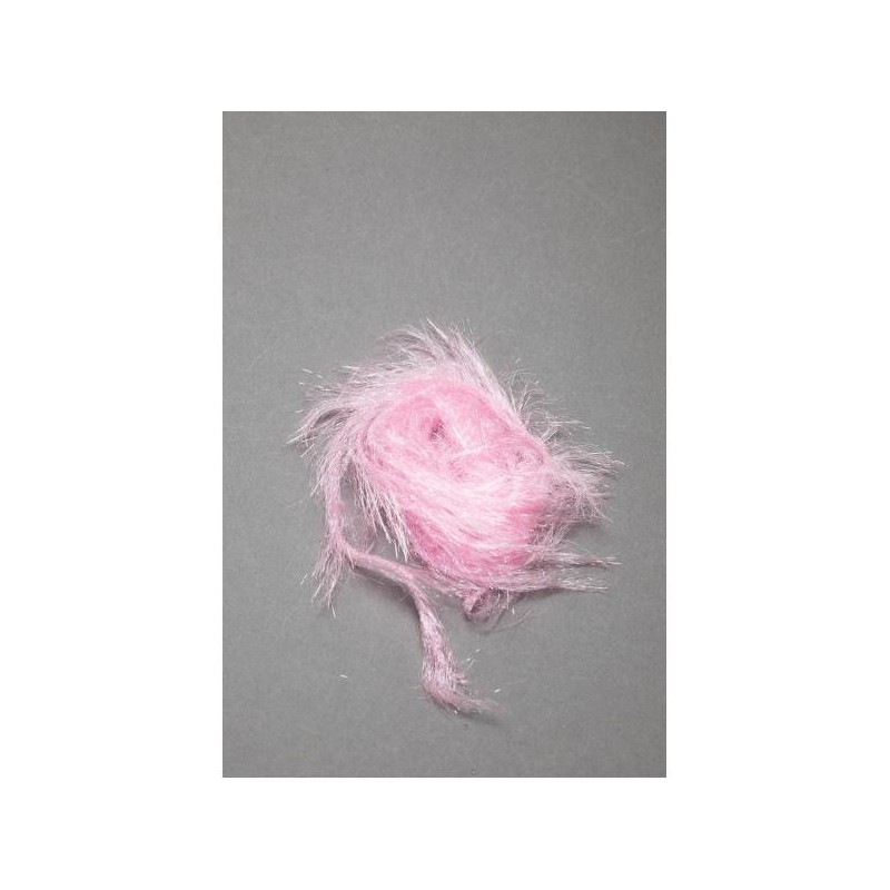 Long Ice Hackle Chenille Fly Scene Light Pink