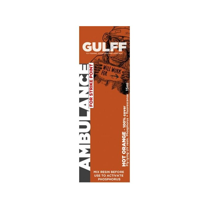 Résine UV Gulff Ambulance 15 ml Hot orange