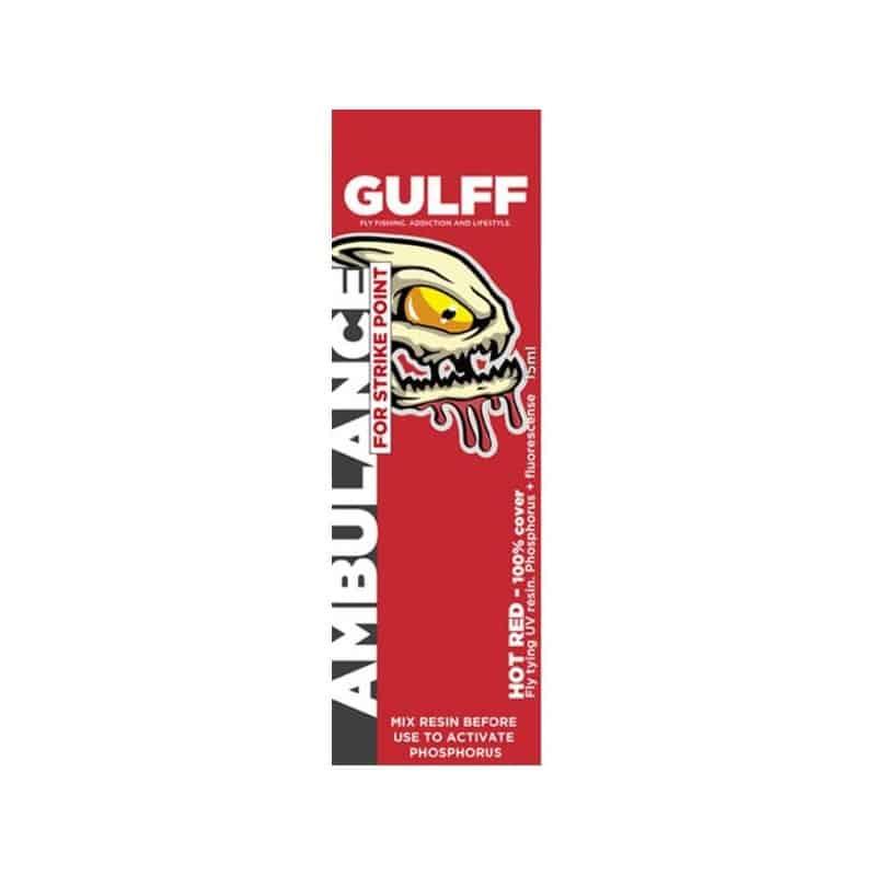 Résine UV Gulff Ambulance 15 ml Hot rouge