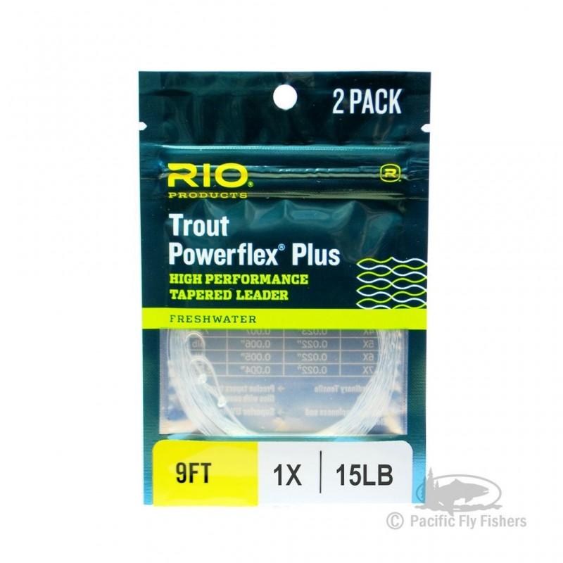 Bas de ligne RIO POWERFLEX PLUS (pack de 2) 9' (2,70m)