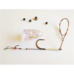 Système Dobb Daddy - Kit avec hameçon + stinger et accroche wiggle tail
