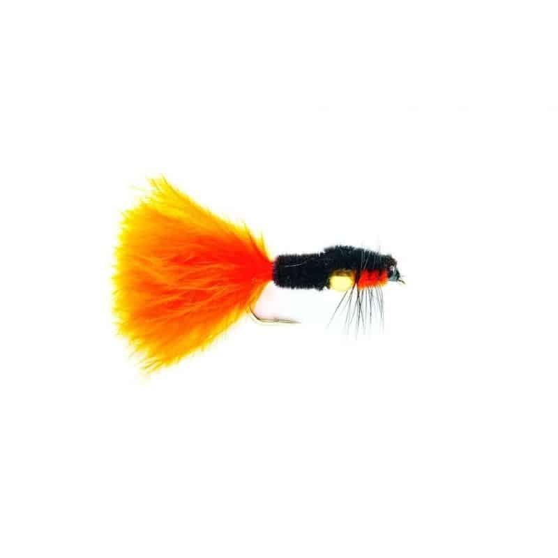 Mouche réservoir Montana orange maraboutée