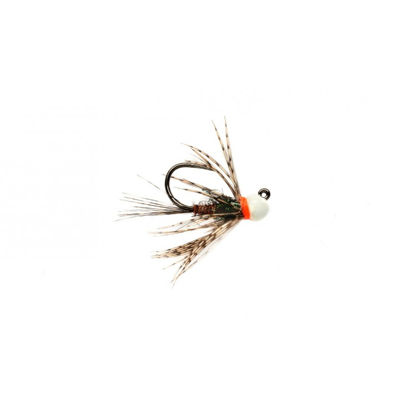 Nymphe tungstène jig Pheasant Tail bille blanche