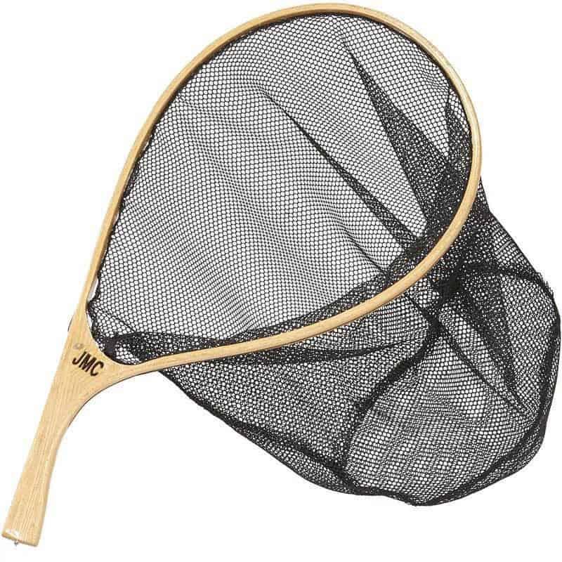 Epuisette raquette bois Jmc courbe tenkara