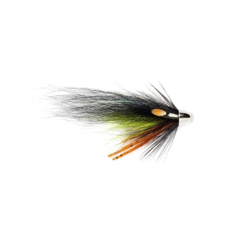 Tube fly rubber leg black & chart