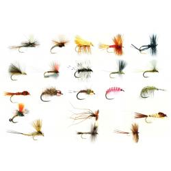 Sélection 24 mouches spéciale rivière sèche nymphe