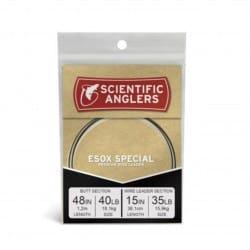 Bas de ligne brochet pointe titanium 1m50 pour soie plongeante